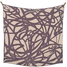 Art Nouveau - silk scarf - grey and bisque - ss16