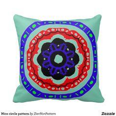 Nice circle pattern throw pillows