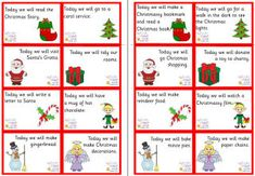"Advent calendar gift ideas- I like the ideas of a miniature cookie cutter (along with a note that you will bake cookies together), a message on what you will be doing that day (visiting grandma, picking out a tree), special coins like maybe a 50 cent piece, ""giving day""- pick out toys to donate or go shopping for toys"