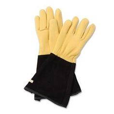 Endorsed by the Royal Horticultural Society they offer exceptional comfort and warmth, with the added benefit of the gold grain leather being specially treated to offer resistance to water. An extended cuff affords additional protection for the wrist and forearm adds to the overall appeal of these quite superb Gold Leaf tough touch gardening gloves.