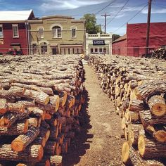 ( this is how serious we are with our barbecue!) Smitty's in Lockhart,Texas done right requires good wood & lots of it. Lockhart Texas, Bbq Places, Bbq Wood, Meat Love, Pit Bbq, Bbq Pitmasters, Texas Roadtrip, Texas Bbq, Bar B Que