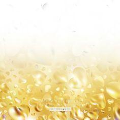 Romantic Light Gold Hearts Background