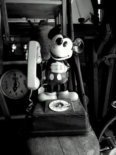 Wish I had one of these antique Mickey Mouse phones!