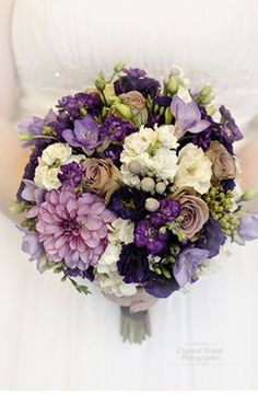 purple and gold bouquet