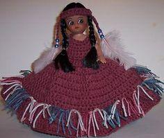 Air Freshener Dolls to Crochet | Crocheted Renuzit AIR Freshener Native American Indian Doll | eBay by ...