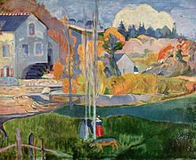 pont aven school of art | Watermill in Pont-Aven by Gauguin