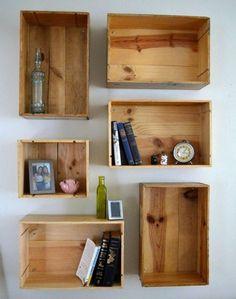 wine crate shelf build yourself easily make wanddeko