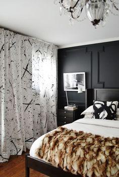 Modern Circles black and white handmade silk pillows by Alexandra D. Foster: www.alexandradfoster.com