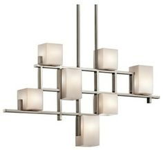 Kichler City Lights 7 Light Linear Chandelier - 5W in. Classic Pewter modern chandeliers