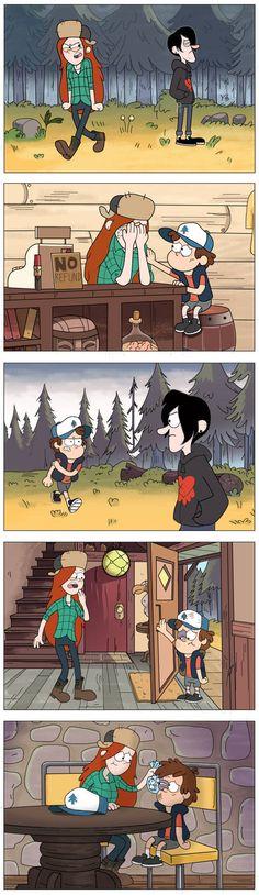 Gravity Falls Funny, Gravity Falls Fan Art, Gravity Falls Comics, Dipper Et Mabel, Dipper And Wendy, Dipper Pines, Disney Xd, Disney Memes, Disney And Dreamworks