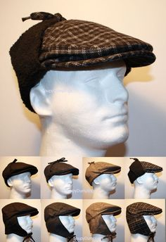 09b729a5152 Hat Making · Image result for flat cap with ear flaps