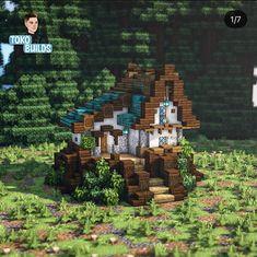 Minecraft Farm, Minecraft Cottage, Cute Minecraft Houses, Minecraft Medieval, Minecraft Plans, Minecraft House Designs, Minecraft Survival, Minecraft Construction, Amazing Minecraft