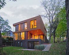 Johnsen Schmaling Architects have completed the Redaction House in Oconomowoc, Wisonsin.