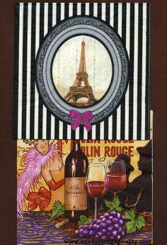 NAPKIN CRAFT SET  Paris 1928 by OneDayLongAgo on Etsy, $4.00