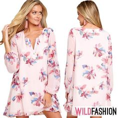 Vrei o rochie versatilă? Floral Tops, Dresses With Sleeves, Spandex, Long Sleeve, Casual, Women, Fashion, Moda, Gowns With Sleeves