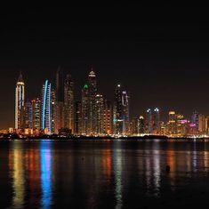 Dubai marina by night 📸 Love those colorful reflections 😁 visitdubai dubaimarina skyscrapers nighttimephotography skyline neonlights olympusphotography Night Love, Night Photos, City Photography, Skyscrapers, Business Travel, Palm Beach, Places To See, The Darkest, New Experience