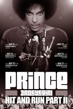 prince concert posters - was there at Leeds on my birthday!