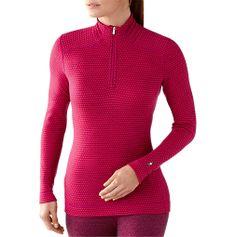 Women's Midweight Merino Wool Pattern Zip T - ShepsSports.com