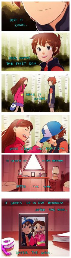 after the war- gravity falls Gravity Falls Anime, Gravity Falls Fan Art, Gravity Falls Comics, Akira, Steven Universe, Dipper Y Mabel, Gavity Falls, Pinecest, Reverse Falls