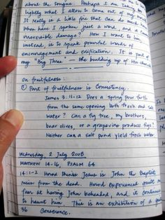A Holy Experience – Journaling as Spiritual Discipline: How to Set up and Organize a Journal