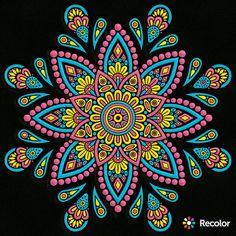 Pin on recolor Mandalas Painting, Mandalas Drawing, 3d Painting, Painting Videos, Mandala Doodle, Hippie Art, Flower Mandala, Mandala Coloring, Rock Art