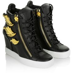 Giuseppe Zanotti Sneakers, LA May Lorenz 75 TR D Birel Vague Nero Shoe (39,965 PHP) ❤ liked on Polyvore featuring shoes