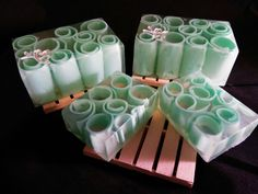 Honeydew pear in olive oil soap with shea butter soap
