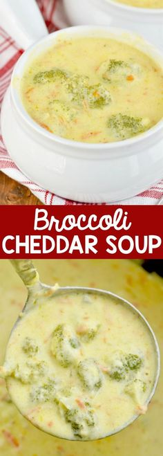 Broccoli Cheddar Soup that is perfect for a weeknight dinner and tastes just like Paneras!