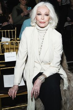 """There's no stopping this model, who—at the age of 83—appeared on the cover of Harper's Bazaar  Thailand. Considered the """"oldest working model"""", she first appeared on the cover of Vogue at the age of 15, and has been working ever since, with a short stint of retirement after her second marriage in 1958. Now, you can see her in campaigns for Target and Rolex, and in the pages of Vogue, W, and Harper's Bazaar."""