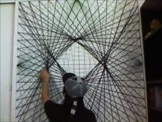 we played a lots of this when we were kids :P........i will do this on my wall as a background for my R2D2. :)   Personal Yarn Art Project (16x Speed) - YouTube
