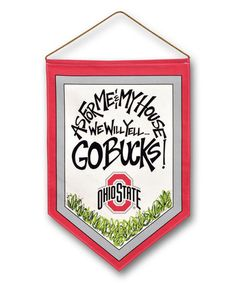 Ohio State Buckeyes 'Go Bucks' Canvas Hanger Flag #zulily #zulilyfinds