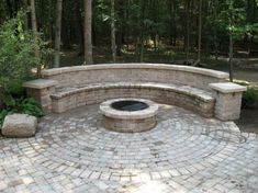 Outdoor fire pit seating benches garden ideas medium size curved fire pit bench with back outdoor Fire Pit Bench, Fire Pit Seating, Diy Fire Pit, Fire Pit Backyard, Floor Seating, Cheap Fire Pit, Cool Fire Pits, Gazebo, Pergola Roof