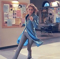 The This Jacket Will Look Really Cool When I'm Running In Slow Motion And Going To Find Out Just How Dark This Show Will Get Outfit | 23 Of The Most Buffy Outfits Buffy Ever Wore