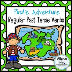 Go on a pirate adventure while learning regular past tense verbs! This packet includes different activities to reach a variety of learning needs and generalization. The packet contains: - 12 cards with past tense verbs ending in /d/ sound - 2 dice including the /d/