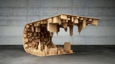 Mind-Bending Cityscape Table Inspired by the Movie Inception - Neatorama