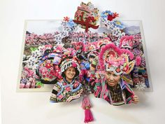 In her remarkable new pop-up book, visual artist Colette Fu re-imagines vibrant ethnic cultures in China's Yunnan Province. Up Book, Book Art, Tiger Dragon, Fire Festival, Book Sculpture, Peach Blossoms, Chinese Art, Chinese Paper, Pop Up