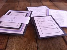 Wedding Invitation and RSVP SetMounted with belly by TheItDesign