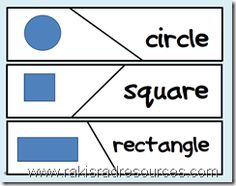 Self Correcting Puzzle - Shape Names