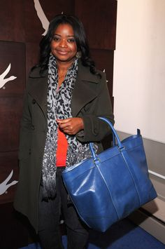 Spotted wearing Coach: Octavia Spencer with the Bleecker Weekend Tote. Image Courtesy of Getty Images.