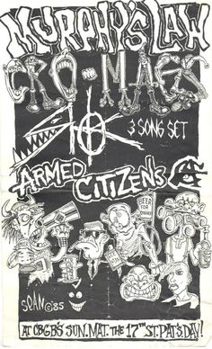 CBGB Flyer St. Patrick's Day 1985, art by Sean Taggart
