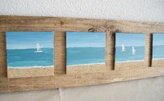 """""""Blick zum Horizont"""" - Acryl Bilder auf Holzbrett von nordic Art auf DaWanda.com"""