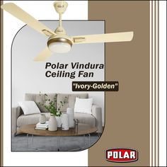 Vindura Ceiling Fan, a range of premium ceiling fans brought to you by Polar for your ultimate comfort. #Polar #Fan #PolarFan #CeilingFan #PremiumCeilingFan #Vindura 3 Blade Ceiling Fan, Home Decor, Interior Design, Home Interior Design, Home Decoration, Decoration Home, Interior Decorating