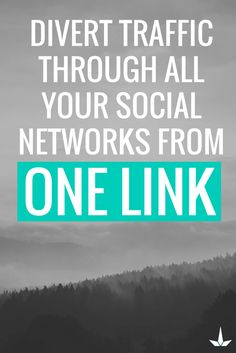 Divert traffic through all your social networks from one link. Social Networks, Social Media, Media Smart, How To Find Out, Connection, Link