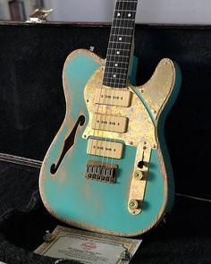 2019 Paoletti Guitars Nancy Thinline Telecaster, by Fabrizio Paoletti in Italy - Thinline Seit einigen Jahren vertraut Telecaster Thinline, Telecaster Custom, Gretsch, Epiphone, Guitar Diy, Cool Guitar, Van Halen, Dave Grohl, District Of Columbia