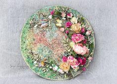 Scrap-Imaginarium: Декоративное панно с цветочной композицией + МК