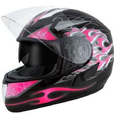 or maybe this hot pink flames motorcycle helmet.
