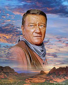 John Wayne - portrait by Greg Dubuque.