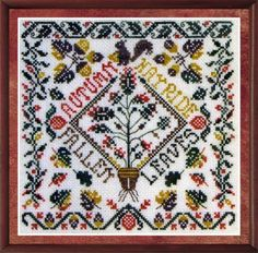 Autumn Garden Party is the title of this cross stitch pattern from Tempting Tangles. Click on highlighted link to add the Dinky Dyes fiber pack to your shopping cart.