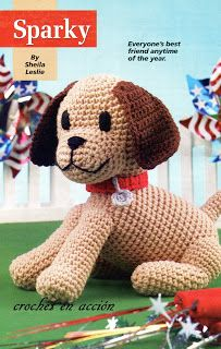 Sparky the dog free amigurumi pattern