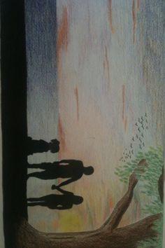 Pencil sketch sunset